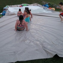 An even bigger slip and slide!!