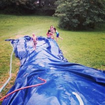We do have the BEST slip and slide EVER!!